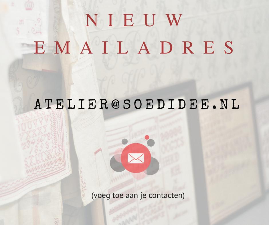 Nieuw mailadres