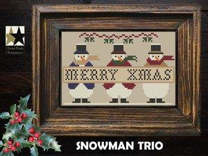 Snowman Trio- Twin Peak Primitives