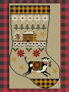 Rustic Christmas Series Stocking I- Twin Peak Primitives