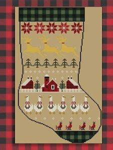 Rustic Christmas Series Stocking II- Twin Peak Primitives