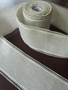 10 cm naturel/white kantrandje