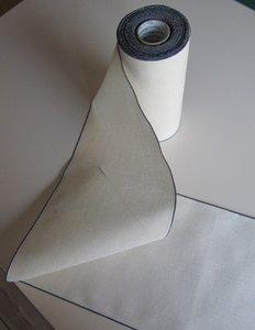 20 cm Antiek wit met blauw randje