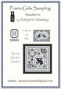 Spring quaker sampler 1- Marjorie Massey