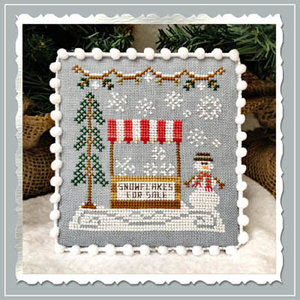 Snow Village - Snowflake Stand- CCN