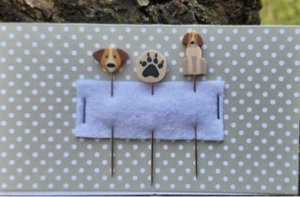 Dog PIN SET for Erica Michaels BARK BERRY Strawberry Project  -Puntini Puntini