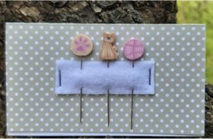 Cat PIN SET for Erica Michaels PURR BERRY Strawberry Project-Puntini Puntini