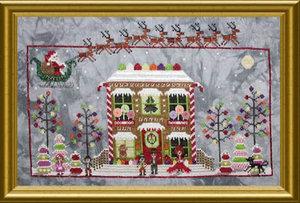 Gingerbread Cottage Drum-Praiseworthy Stitches