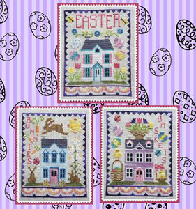 Easter House Trio- Waxing Moon Design