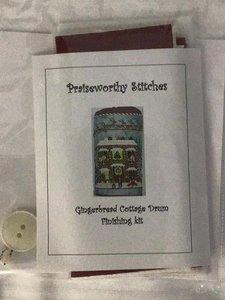 Gingerbread Cottage Drum-Finishing kit-Praiseworthy Stitches