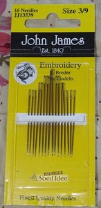 John James Embroidery size 3/9
