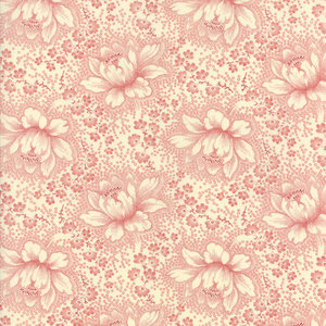 Farmhouse Reds Tan and Red Etched Floral