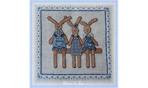 Trois Petits Lapins - Fleurs de Lin
