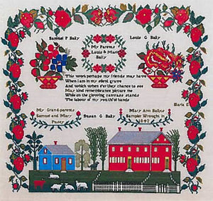 Mary Ann Baily 1842- Queenstown Sampler