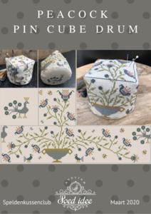 Peacock Pin Cube Drum