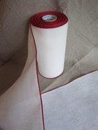 20 cm Antiek wit met rood randje