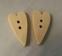 houten hartjes lang 2x1 cm