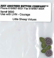 Little Sheep Virtue - 4. Courage Buttonpack