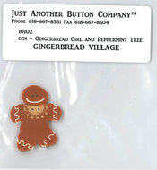 2 - Gingerbread Girl Button Pack