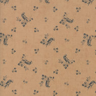 Compassion Birds and Branches Tan Chambray