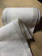 20 cm Antiek Wit met beige ingeweven streepjes