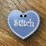 Blauw hartje Stitch