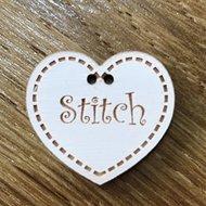 Ecru hartje Stitch