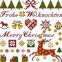 Der Weihnachtshirsch - Historische Stickmuster