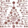 Frohe Weihnachten 2 - Historische Stickmuster