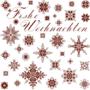 Frohe Weihnachten 1 - Historische Stickmuster